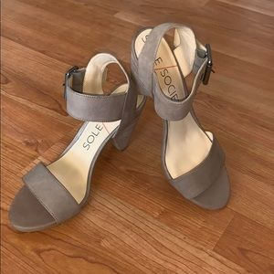 Sole Society Stone Missy Heeled Sandal 6